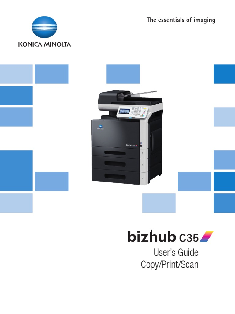 bizhub c35 ug printer copy scanner en 3 1 0 image scanner license rh scribd com Bizhub C35 Imaging Unit Install Bizhub C35