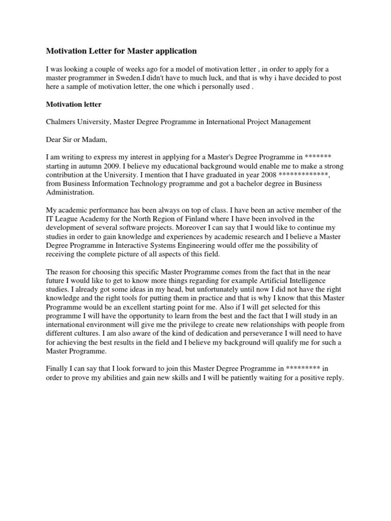 Motivation letter for master application economics microeconomics altavistaventures Images