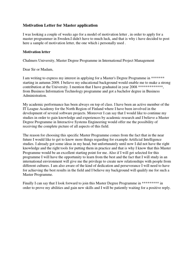 Motivation letter for master application economics microeconomics thecheapjerseys Images