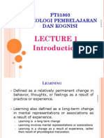 Lecture 1 Intro-Psyc of Learning