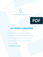 Política tecnológica aplicada a los distritos industriales (Es)/ Technology policy applied to industrial districts (Spanish)/ Teknologia politika industri barrutietan ezarrita (Es)