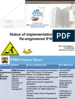 Status of implementation of the  Re-engineered IFMIS - Ministry of Finance - Anne Waiguru