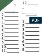 Grade 1 spelling posttest unit 1