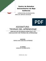 Análisis de una clase rescatando la aplicación de teorías del aprendizaje en la secuencia didáctica