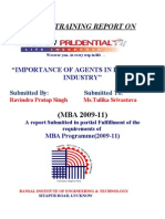 Project Report on ICICI Prudential