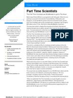 MindMeister › Case Study › Part Time Scientists