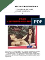 Tous les films immoraux (de 1950 à1968)