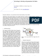 A Case Study Using in-situ Testing to Develop Soil Parameters for Finite Element