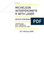 Michelson Interferometer(With Laser)