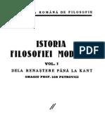 Istoria Filozofiei de La Renastere La Kant 1937