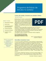 Folder Programa de Bolsas ADM EUA