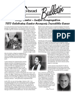 April Bulletin for Temple Sharey Tefilo-Israel
