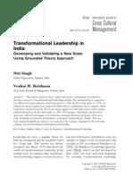 2007 Transformational Leadership in India