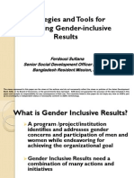 Strategies and Tools for Gender Inclusive Results