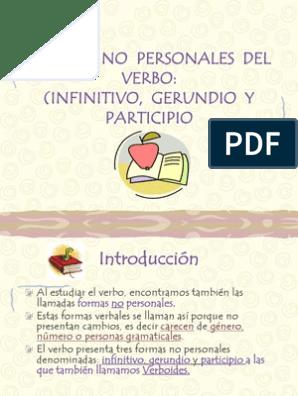 Formas No Personales Del Verbo 5º Verbo Numero Gramatical