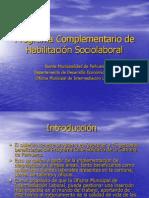 Programa Complementario de Habilitación Sociolaboral