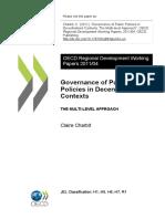Governance of Public Policies in Decentralised Contexts (Eng)/ Gobernanza de las políticas públicas en contextos descentralizados (Ing)/  Politika publikoen gobernantza deszentralizatutako testuinguruetan (Ing)