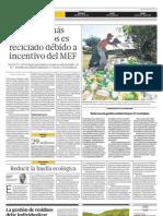 Un 2 por ciento más de residuos es reciclado debido a incentivos del MEF