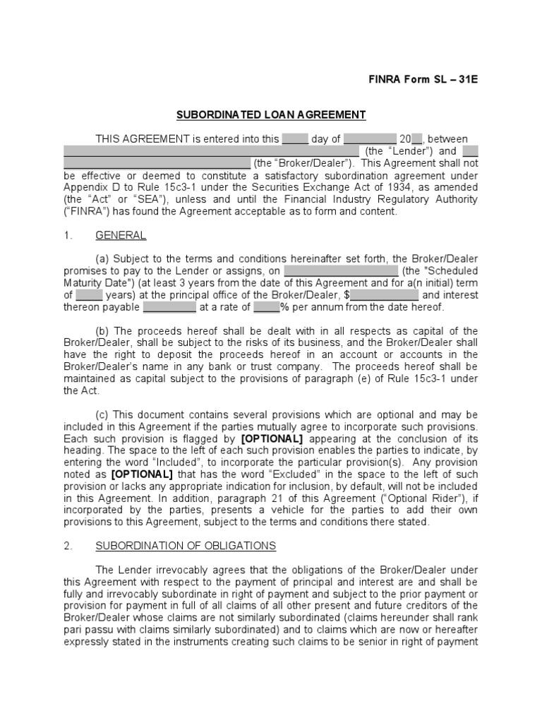 Finra Form Sl 31e Cash Equity Broker Dealer Bankruptcy