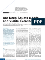 are deep squats a safe and viable exercise brown 2012