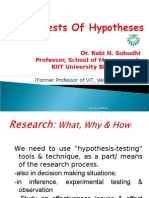 Tests of Hypotheses