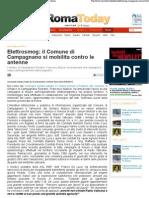 2012 - aprile 02 - Roma Today - Elettrosmog