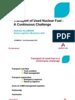 Транспортировка отработавшего ядерного топлива