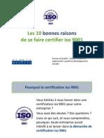 Les 10 bonnes raisons de se faire certifier ISO 9001 - Ecoute & Qualité