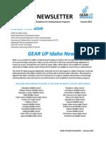 Idaho GEAR UP Newsletter - January 2012
