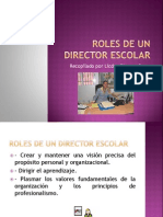 Roles de Un Director Escolar
