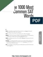 1000 Common SAT Words