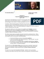 Frelinghuysen Announces Reelection