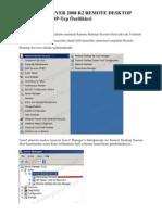 WINDOWS SERVER 2008 R2 REMOTE DESKTOP SERVICES – RDP-Tcp Özellikleri
