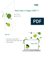 What's New in Sage CRM 7.1