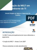 HST - NR17 - Aplicação