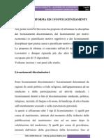 Art.18 - La Riforma Ed i Nuovi Licenziamenti