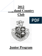 2012 Highland Country Club Junior Program