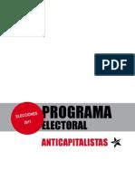Programa Electoral Anti Capitalist As