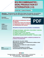 Formation Continue Proteines Re Comb in Antes Expression Production Caracterisation