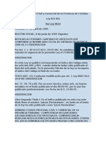 Código Procesal Civil y Comercial de la Provincia de Córdoba