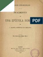 Rodríguez de Berlanga Fragmento de una epístola romana