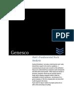 GCO Investment Report (Genesco)