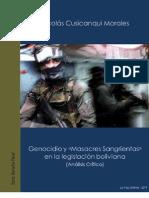 """Genocidio y """"Masacres Sangrientas"""" en la legislación boliviana (2006)"""
