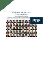 Historia Anual 2011 - Barrio San Luis