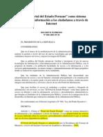 01-DS No.060-2001-PCM Creacion Del Portal Estado Peruano