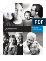 2010-2011 Cancer Prevention and Treatment Fund Annual Report