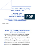 2010 02 27-The Role of GSEs and Housing Policy in the Fianacial Crisis