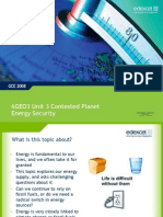 Unit 3 Contested Planet Energy Security
