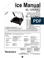 Technics 1200 MK2 Service Manual Supplement)