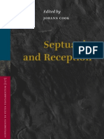 Septuagint and Reception Supplements to Vetus Testament Um